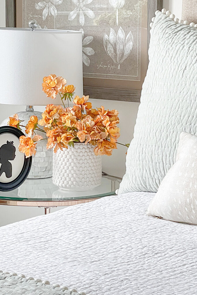 FLOWERS IN A FALL BEDROOM