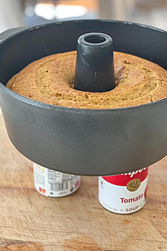 CAKE COOLING IN BUNDT PAN