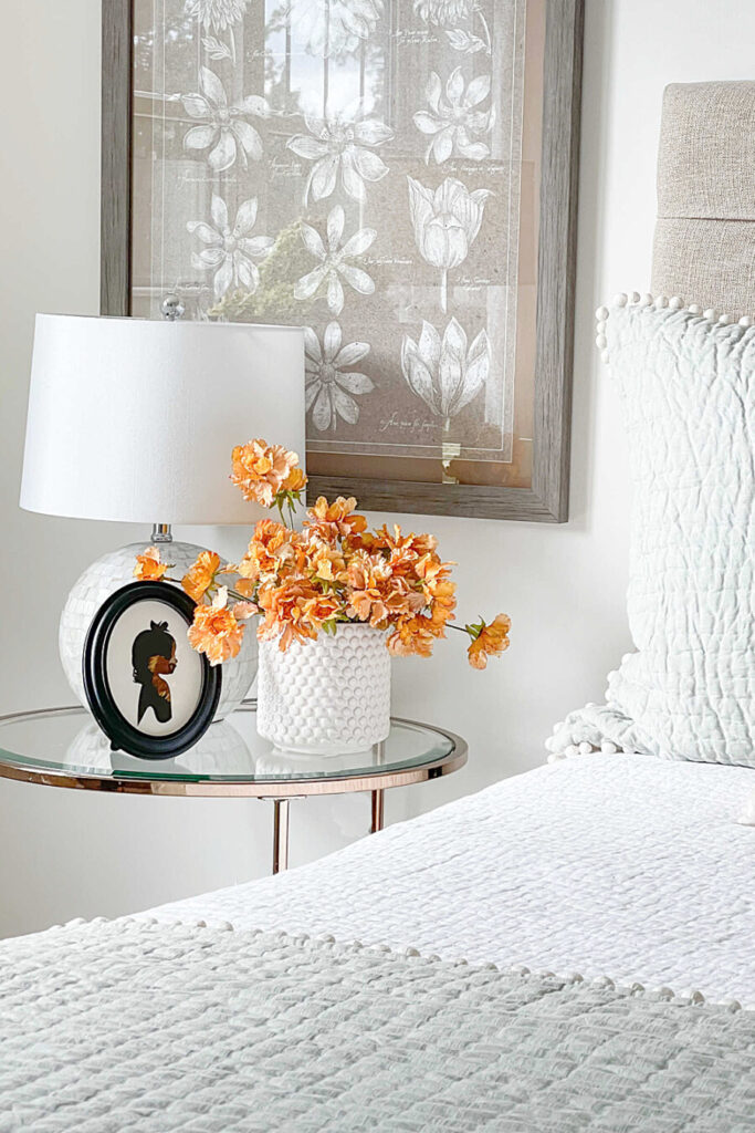 FALL DECORATED BEDROOM NIGHTSTAND