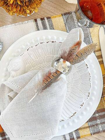 SO EASY THANKSGIVING PLACEMAT FROM A THROW